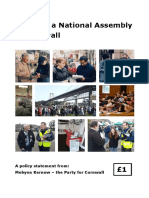 Towards a National Assembly for Cornwall - 22 June 2018