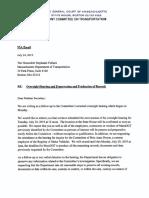 Letter to Transportation Secretary Stephanie Pollack