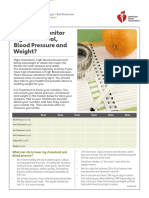 cholesterol blood pressure adn weight