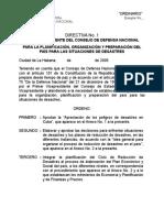 Directiva 2001-DESASTRES