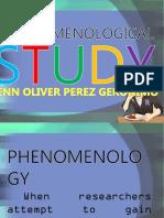 Phenomenological Study