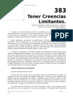 Autoestima Cap 383 Tener Creencias Limitantes.doc