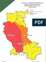 Carte Sécheresse Loire 25 Juillet 2019
