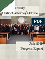 Durham DA's Office July 2019 Progress Report