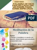 meditacion de la PALABRA  CLASE DOMINICAL.ppt
