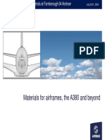 Materials for Airframes, The A380 and Beyond