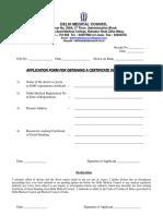 Certificate of Cg