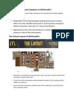 Layout Analysis on McDonald