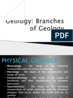 Branches of Geology(Senior High School Powerpoint)