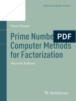 [Modern Birkhäuser Classics] Hans Riesel (Auth.) - Prime Numbers and Computer Methods for Factorization (2012, Birkhäuser Basel) (1)