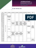 Jornadas de Gobiernos Locales - Programa y Uso de Espacios
