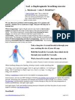 Diaphraghmatic Breathing Exercise