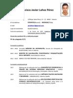 CV Javier Lahoz Pérez