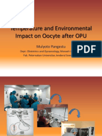 PDF Temperature and Environmental Impact on Oocyte After OPU