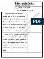 How to Use Time Wisely [Grammar Enhancement]