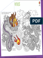 Dragon Chinese Patterns to Colour