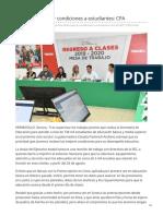 17-07-2019 Prioridad Mejorar Condiciones a Estudiantes CPA-El Imparcial