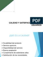 Calidad de Servicio y Satisfaccion de Usuario