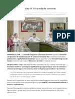 16-07-2019 Avanza la ley de búsqueda de personas desaparecidas - Expreso