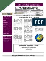 November 7 Newsletter