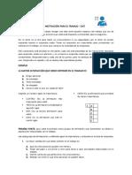 Cuestionario de Motivación Para El Trabajo PDF