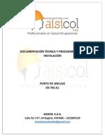 Documentación Técnica y ProceANCLAJESdimiento de Instalación Anclaje