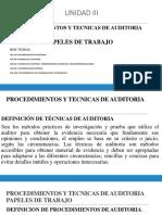 AUDITORIA III, UNIDADES  3.ppt