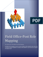Field Office-Post Role Mapping User Manual