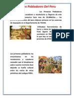 Los Primeros Pobladores Del Peru