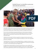 15-07-2019 Con Programa Identidad Sonora Se Beneficia a Personas Que Nunca Han Tenido Actas de Nacimiento-Proyecto Puente