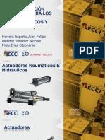 Actuadores neumaticos e hidraulicos