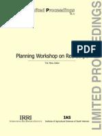 Planning Workshop on Red Stripe