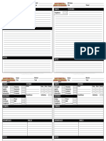 M&M 3e Dave Additional Sheets