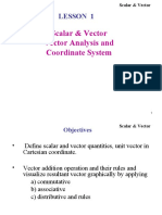 Lecture 0- REVIEW- Scalar, Vector