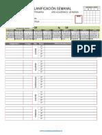 Ejemplo de formulario de Planificación