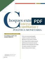 Choques externos, intervenciones cambiarías y política monetaria