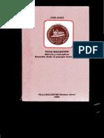 Villa Ballester - Historia y Costumbres - Narracion Desde El Pincipio Hasta 1950 - Jose Angio