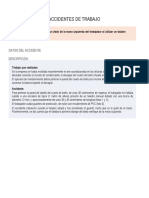 Accidente Taladro Portatil