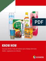 Tintas de impresion para embalaje alimentario LEGISLACIONES EN EL MUNDO