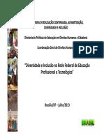 Diversidade e Inclusão na Rede Federal de Educação Profissional e Tecnológica