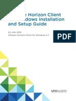 Horizon Client Windows Installation