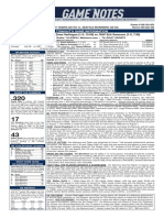 07.25.19 Game Notes