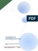 2º Eso Cuaderno de Matematicas
