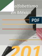 Analfabetismo en Mexico Marlene