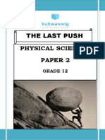 Last Push Physical Science Paper 2 Sep 2018