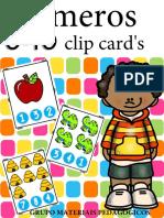 Clip Cards Numerais - Ed Infantil