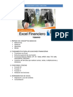 TEMARIO Excel Financiero