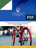 ley de uso de bicicletas