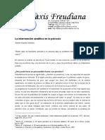 Intervencion Analitica en La Psicosis