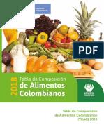 Tablas Nutricionales Del ICBF